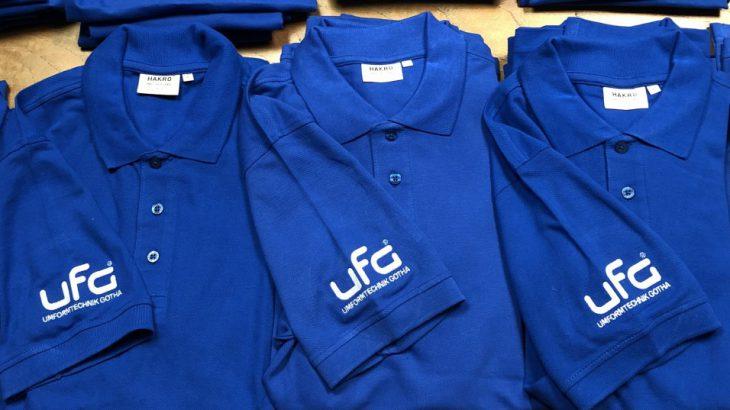 UFG Shirts, neue T-Shirts und Polo Shirts für alle Mitarbeiter bei und von UFG Gotha