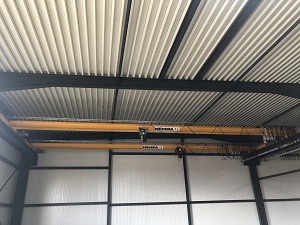 Our 4 new overhead cranes for the production area have been installed.