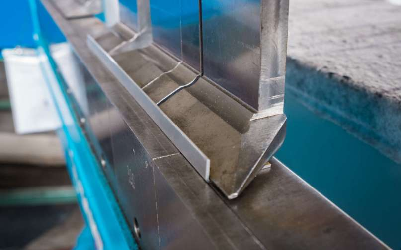 Sheet metal bending machine in the production plant